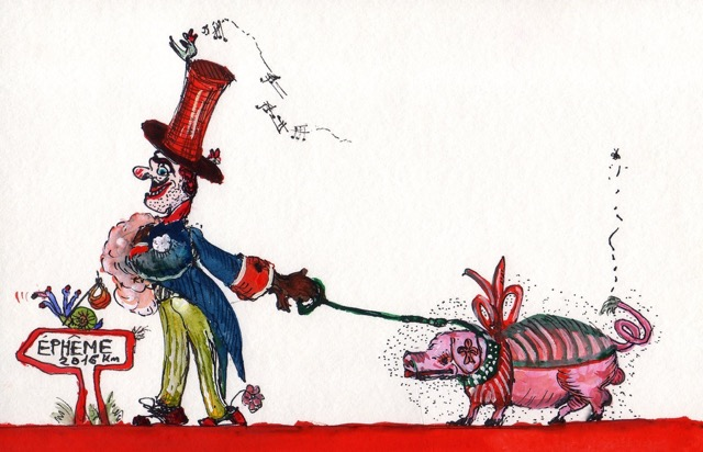 Homme et cochon